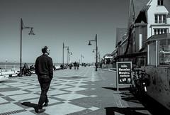 A stroll in De Haan (John fae Fife) Tags: blackandwhite monochrome coast seaside belgium promenade xe2 fujifilmx