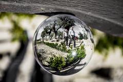 Caminantes (Lola Ylo) Tags: barcelona park people outdoor montjuc crystalball