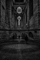 Day 205/365 (Alexander Marte Reyes) Tags: newyorkcity people blackandwhite station architecture walking lights hall transportation grandcentralterminal