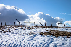 Snow, and a fence (allybeag) Tags: snow pennines