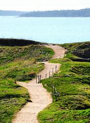 Lonely Road (samikahkonen) Tags: road sea grass suomi finland helsinki scenery horizon north balticsea explore nordic scandinavia northern fortress suomenlinna hobbiton