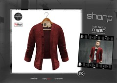 "sharp by [ZD] - ""Leon"" Open Cardigan (shine & sharp by [ZD]) Tags: life urban man male men fashion by demo cool shine dress place mesh market sharp sl leon dresses second mann marketplace mp mode cardigan mnner kleidung menswear kleid mnnlich zd inworld zddesign"
