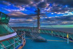 Empty Sunbeds (Kevin From Manchester) Tags: sea sky water canon ship southpacific cruiseship 1855mm hdr sunbeds southpacificocean dawnprincess kevinwalker canon1100d