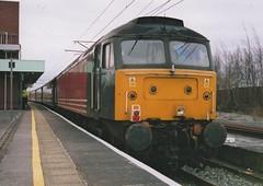 "Former Virgin Trains Class 47/8, 47805 (37190 ""Dalzell"") Tags: spoon brush northwestern duff vt wigan virgintrains sulzer class47 type4 unbranded redandgrey 47257 47805 rivieratrains class478 d1935 47650"