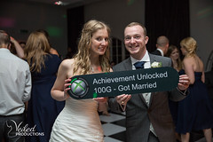 An Xbox loving groom created 'got married' sign! Kat and Oli's wedding day - photography and videography by Veiled Productions - wedding photography and videography Cambridgeshire