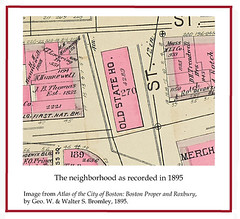 Map of Neighborhood, 1895 (State Library of Massachusetts) Tags: oldstatehouse bostonmassachusetts massachusettsstatehouse massachusettslegislature