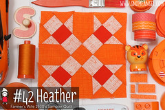 gnomeangel-farmers-wife-1930-block-42-heather (gnomeangel) Tags: modern quilt quilting patchwork tutorial farmerswife fussycutting gnomeangel fussycuttersclub farmerswife1930