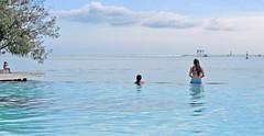 Girls at the infinity pool,Manavasuite hotel Tahiti (sapphire_rouge) Tags: girl swimming polynesia resort teen bikini southpacific tahiti schoolgirl swimsuit bikinis infinitypool younggirl moorea pacificisland frenchpolynesia pearlbeach manava