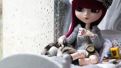 Rain~ (MintyP.) Tags: 6 rain photography doll sony pluie s wig groove pullip minty 58mm helios merl nex cocooning obitsu elwyna mintyp