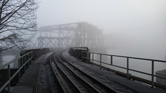 Ghost Bridge (bottledale999) Tags: city railroad bridge winter mist cold heritage ice water beautiful weather misty fog architecture vancouver cn point landscape frozen cool nice shoot crossing bc phone steel foggy scenic samsung rail railway structure explore freeze cp 1904