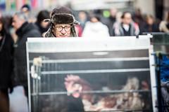 Invito a riflettere - flashmob a Milano (Essere Animali) Tags: vegan milano animalrights animali gabbie specchi attivismo riflettere