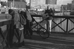Untitled (the underlord) Tags: slr film liverpool olympus patterson busker pierhead albertdock expiredfilm outofdate olympusom2n om2n kodakd76 expired2001 phototec100 sixminutesatstock