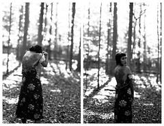 Lizzie (mattbellphoto) Tags: blackandwhite bw film 35mm nikon kodak hc110 f90x plusx expiredfilm 125px 85mmf14 lizziehornshuh