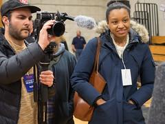 Bernie Sanders (John M Poltrack) Tags: camera people media rally indoor nh politicians press primary berniesanders