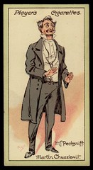Cigarette Card - Mr Pecksniff (cigcardpix) Tags: vintage advertising ephemera dickens cigarettecards