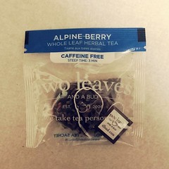A new Berry-delicious Tea (canadianlookin) Tags: berry tea teabag herbal alpineberry
