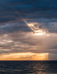 sky in god mode (angeloangelo) Tags: ocean sunset sky water clouds hawaii maui shafts godlight