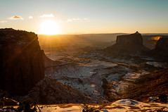 A Breath of Warmth (Patrick.Russell) Tags: winter sunset nature landscape outdoors utah nationalpark ut nikon scenery rocks wideangle canyon canyonlands vista moab d300 cloudsstormssunsetssunrises