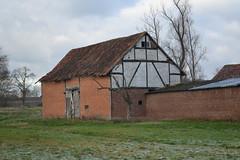 Vakwerkschuur Groot Terherken, Diepenbeek (Erf-goed.be) Tags: geotagged limburg schuur hoeve archeonet diepenbeek vakwerkschuur geo:lat=508842 grootterherken netelbroekstraat geo:lon=53877