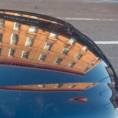 19/366 Jan 19 Car Hood (BrianGoPhoto) Tags: street reflection building lines car mirror apartment reflect hood 365 apartmentbuilding carhood 366 project365 project366 nooklyn