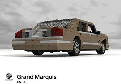 Mercury Grand Marquis (EN114 2003-2011) (lego911) Tags: auto 2003 usa ford car america model lego mercury yacht render grand company 99 land motor panther challenge v8 cad marquis lugnuts povray 2000s moc ldd 2011 miniland landyachts lego911 en114