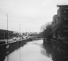 The River Foss in York (Christopher Arundel) Tags: york england bw white black monochrome river britain yorkshire january riverfoss 2016 yorkuk