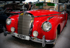 over 60 years old and still beautiful (greg luengen) Tags: auto red rot classic car mercedes benz automobile oldtimer