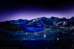 Cast glass Mountain Meall nan Tarmachan (RDW Glass) Tags: blue sculpture mountain ice glass scotland purple glasgow turquoise nan fusedglass meall tarmachan rdwglass