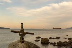 Rock Sculpture at Stanley Park, Vancouver (lymackos) Tags: canada art rock vancouver stanleypark caillou rocksculpture ephemere