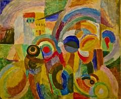 March au Minho - 2 (1916) - Snia Delaunay (1885 - 1979) (pedrosimoes7) Tags: portugal museum museu lisboa cam muse cc creativecommons frenchpainter centrodeartemoderna caloustegulbenkianfoundation peintrefranaise mercadonominho2 pintorafrancesa minhomarket2 sniadelaunay marchauminho2