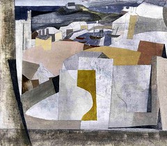 St. Ives Harbor, 1949 // by Ben Nicholson (mike catalonian) Tags: uk abstract painting landscape 1940s 1949 bennicholson