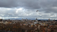 Rome (Alexei L) Tags: city sky italy rome bird skyline architecture clouds europe cityscape capital roofs cityview