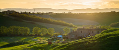. (_Alexei) Tags: sunset italy house tree landscape dusk farm ridge tuscany crete cypress toscana senesi