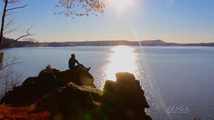 Living on the Edge (andrewwebbcurtis) Tags: winter cliff lake mountains nature outdoor hiking tennessee hike hills