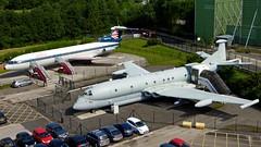 Nimrod & Trident (COCOAJAMESON) Tags: bea manchesterairport trident nimrod ringway britisheuropeanairways britishjet runwayvisitorpark
