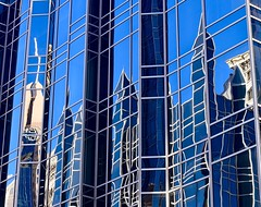 Blurred lines....of reflection (R.A. Killmer) Tags: city blue sky reflection lines skyscraper mirror pittsburgh cityscape artistic artsy ppg
