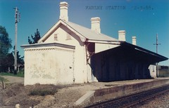 Farley Railway Station, N.S.W. (maitland.city library) Tags: railroad station train 1988 rail railway trains 1975 newsouthwales railways farley railroads stations 1860 maitland 1882 wollombi