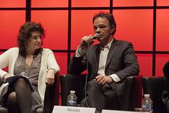 """Laurence Benhamou et Nicolas Charbonneau - Quatre chaînes d'info, est-ce trop ? • <a style=""""font-size:0.8em;"""" href=""""http://www.flickr.com/photos/139959907@N02/25585140341/"""" target=""""_blank"""">View on Flickr</a>"""