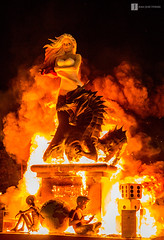 Cara y Cruz (Juan Jos Hervs) Tags: real dragon cara andalucia cruz fuego jaen unica mancha falla