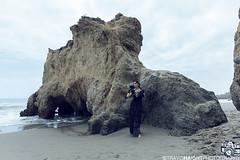 Floofie 11 (TravisHaight) Tags: ocean california sea portrait sky beach fashion canon vintage dark photo model rocks dress outdoor goth naturallight location malibu pale haight editorial mk2 5d dslr mkii floofie travishaight travishaightphotography