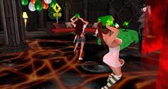 Club Drow - St. Patrick's Day (Osiris LeShelle) Tags: life music green st club fun dance day dancing grove patrick secondlife second patricks drow avilion