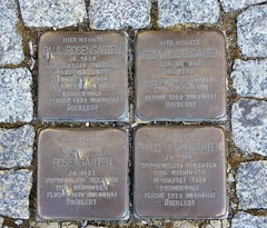 Stumbling blocks to Jewish people Paul, Berta, Manfred and Erich Rosengarten (:Linda:) Tags: people germany four town thuringia jewish stolperstein themar stumblingblock rosengartenfamily