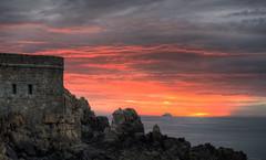 Sunset over Ortac, Alderney