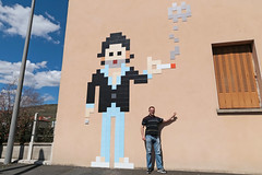 14/52 Serge Gainsbourg (Meteorry) Tags: street selfportrait man france male art me wall french europe autoportrait pavement spaceinvader spaceinvaders roadtrip moi sneakers trainers nike sidewalk tiles baskets singer april invader tribute fumeur smoker rue mur invasion franais airmax auvergne gainsbourg homme trottoir puydedme selfie clermontferrand chanteur artderue mosaques 2016 carrelage sergegainsbourg carreaux meteorry 52weeks skets airmax90 nikeairmax90 perrytak 52semaines invaderwashere clr14 auvergnerhnealpes ruesergegainsbourg