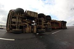IMG_3368 (Lee Collings Photography) Tags: march incident 8mm inthenews overturned doncaster southyorkshire 2103 samyang lorryaccident overturnedlorry farrrs samyang8mm greatyorkshireway 21032016