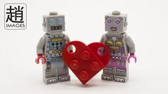 Robot Love (mikechiu86) Tags: boy love girl robot heart lego collectible minifigures