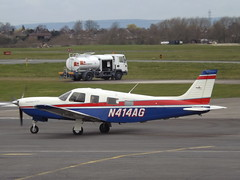 N414AG Piper Saratoga 32 (Aircaft @ Gloucestershire Airport By James) Tags: james airport saratoga gloucestershire piper lloyds pa32 egbj n414ag