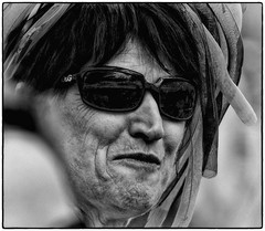 Monochrome Medusa (Andy J Newman) Tags: street portrait england bw colour nikon 7100 unitedkingdom candid run gb bandw runner medusa westonsupermare d7100 silverefex