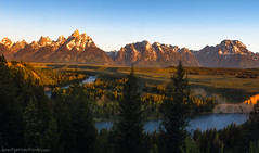 Snake River Overlook (brentgoesoutside.com) Tags: travel summer mountain nature sunrise river landscape nationalpark nikon wideangle wyoming grandtetons anseladams 2014 d7000 brentgoesoutside