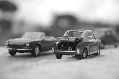Ricordo nel '67... (lumun2012) Tags: bw macro cars monocromo fiat models biancoenero lucio automobili prospettiva monocrome anni60 mundula